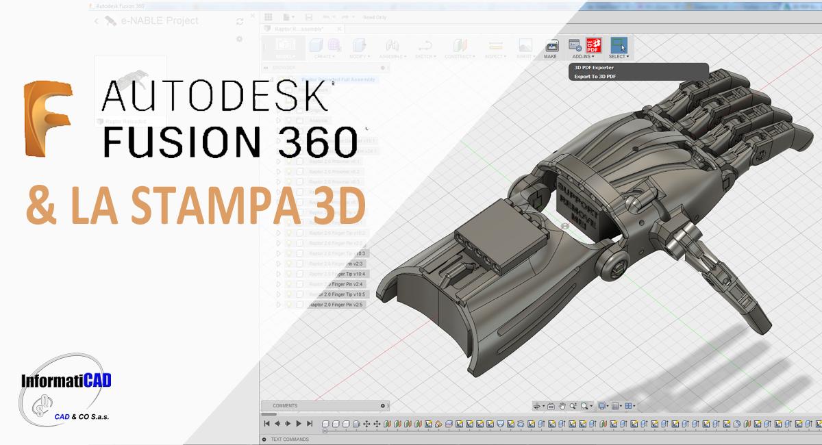 Fusion 360 e la stampa 3d news stampa 3d novit for Modellazione 3d gratis
